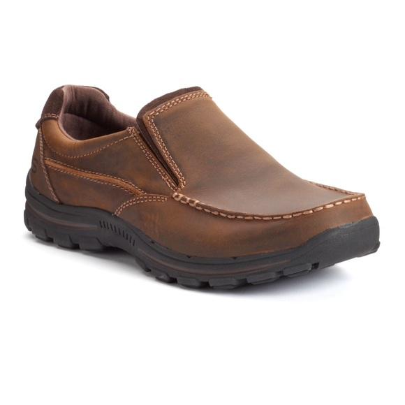 skechers memory foam mens loafers